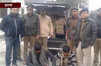 दो शराब तस्करों को गिरफ्तार कर 6 लाख की अवैध शारब की बरामद