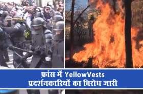 VIDEO: येलो वेस्ट प्रदर्शनकारियों का विरोध 62 सप्ताह भी रहा जारी, पुलिस ने 30 से अधिक को किया गिरफ्तार