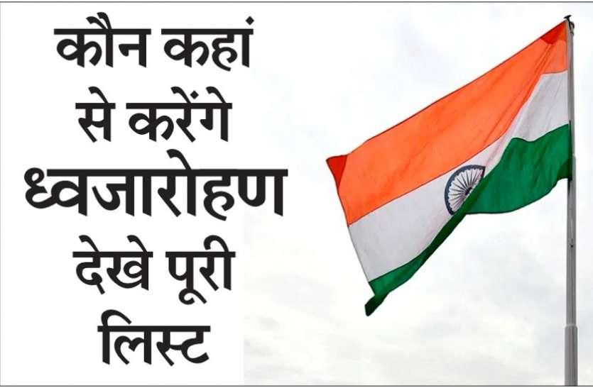 गणतंत्र दिवस : राज्यपाल उइके, मुख्यमंत्री भूपेश बघेल समेत ये बड़े नेता यहां करेंगे ध्वजारोहण, सूची जारी