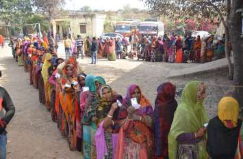 वोट का उत्साह सर्दी पर भारी, रात में भी कतारें