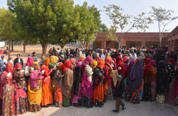 जिले में मूण्डवा एवं लाडनू पंचायत समिति के ग्राम पंचायतों में  देखिए अब तक किसने, कितना किया मतदान