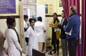 अस्पताल के अंदर रोटरी क्लब की कैंटीन देख नाराज हुआ दल