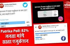Patrika Poll Results:  देश की 82% जनता मांगे सस्ता एजुकेशन