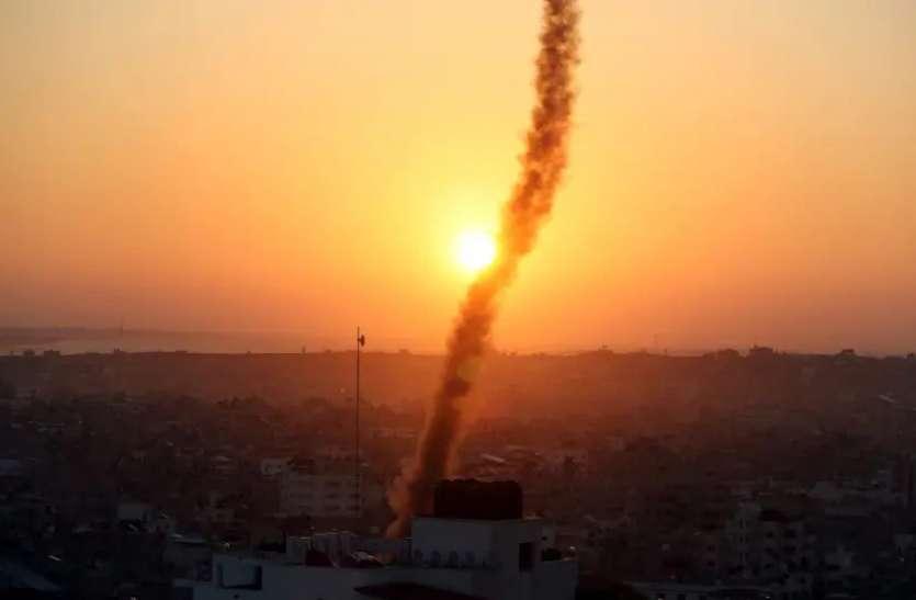 गाजा पट्टी से हुआ रॉकेट हमला, जवाब में इजराइली वायु सेना ने की एयर स्ट्राइक