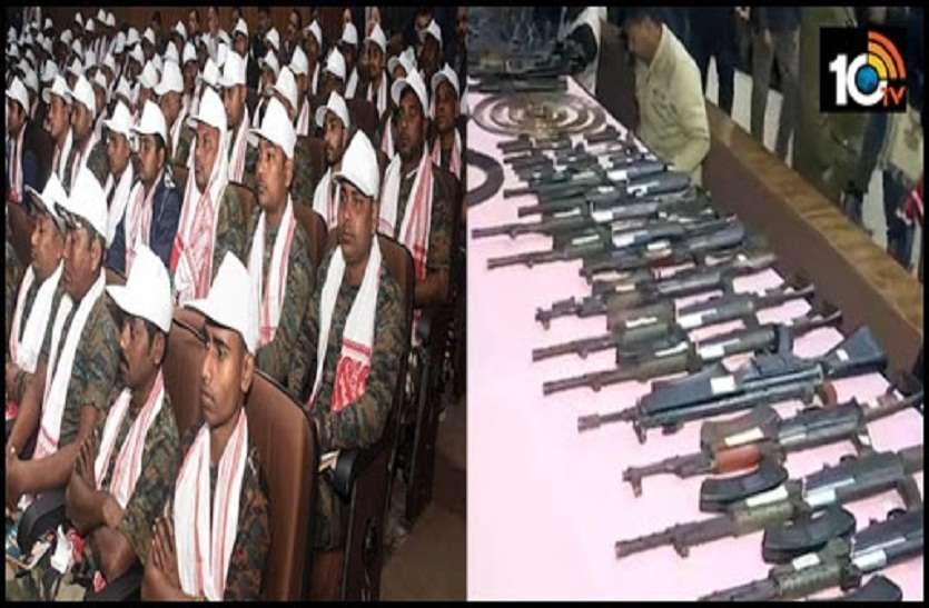 असम में 1 हजार 615 उग्रवादियों ने किया आत्मसमर्पण