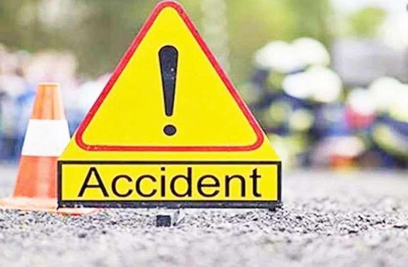 सड़क दुर्घटना- बस की टक्कर से होटल संचालक की में मौत