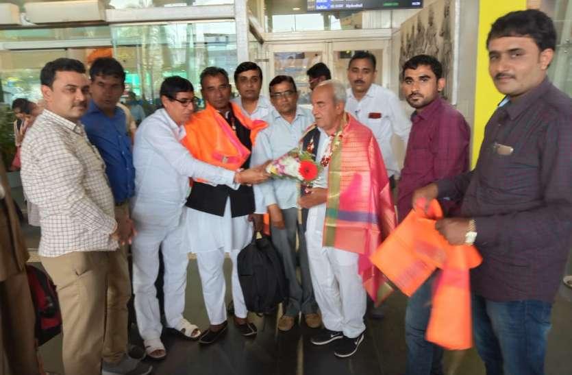 राजस्थान के वन एवं पर्यावरण मंत्री सुखराम विश्नोई का चेन्नई में स्वागत
