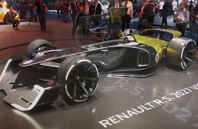 Auto Expo 2020 : लोगों का ध्यान खींच रही Renault की इलेक्ट्रिक फॉर्म्यूला वन कार