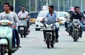 बिना हेलमेट लगाए बाइक चला रहा था नाबालिग, कटा 42 हजार 500 का चालान