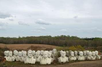 क्यों पूर्व अमरीकी राष्ट्रपतियों की मूर्तियां पार्क से हटाई गईं