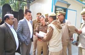 पुलिस प्रशासन ने कोर्ट परिसर का किया निरीक्षण  सीसीटीवी कैमरे को भी किया गया चेक