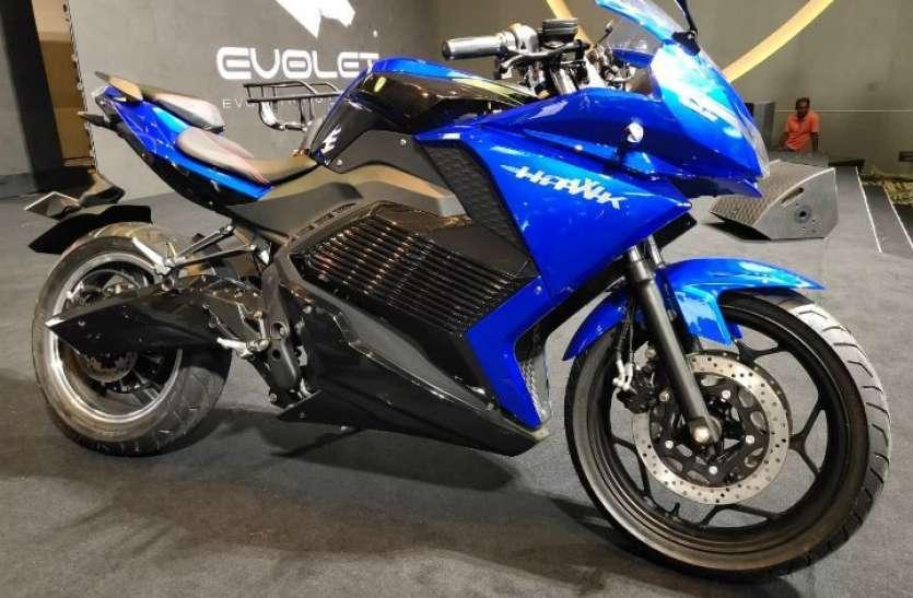 Revolt RV400 को टक्कर देगी इलेक्ट्रिक स्पोर्ट्स बाइक Evolet Hawk, ऑटो एक्सपो में दिखी पहली झलक