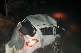 यूपी के बलिया में कार पेड़ से टकराकर पानी से भरे पोखरे में गिरी, तीन की मौत
