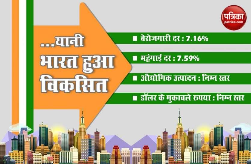 गिरती जीडीपी और बढ़ती महंगाई के बीच भारत बना 'विकसित देश'!