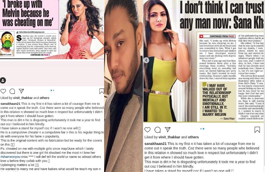 सना खान ने लगाया प्यार में धोखे का आरोप, बॉयफ्रेंड मेल्विन का जवाब- बुलाती है मगर जाने का नहीं