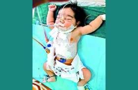 दुखद  : एक दिन की बच्ची के शरीर पर चाकू के कई घाव, सह नहीं पाई ऑपरेशन का दर्द, मौत