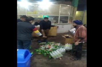 होटल पर पहुंची खाद्य विभाग की टीम को देख कर्मचारियों में मची भगदड़, 1 हजार कोल्ड ड्रिंक की बोतल की नष्ट