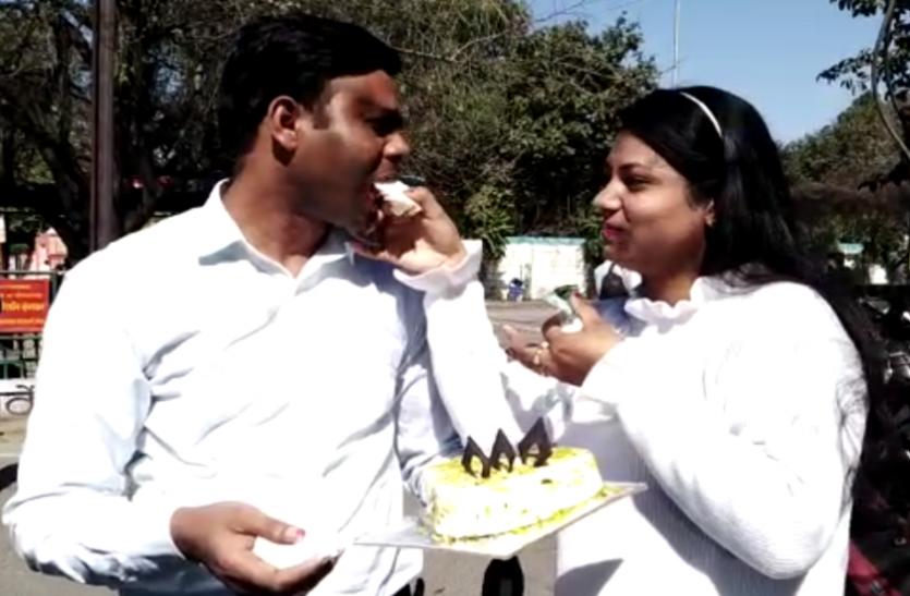 दिल्ली से मेरठ पहुंचे इस जोड़े ने खास अंदाज में मनाया Valentine Day