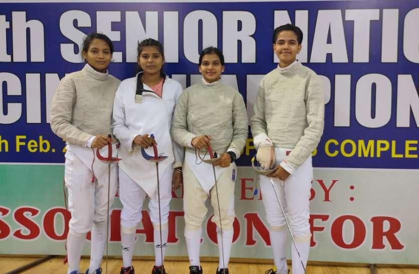 राष्ट्रीय सीनियर फेंसिंग चैंपियनशिप: महिला सैबर टीम ने जीता कांस्य पदक, राष्ट्रीय खेलों के लिए क्वालीफाई