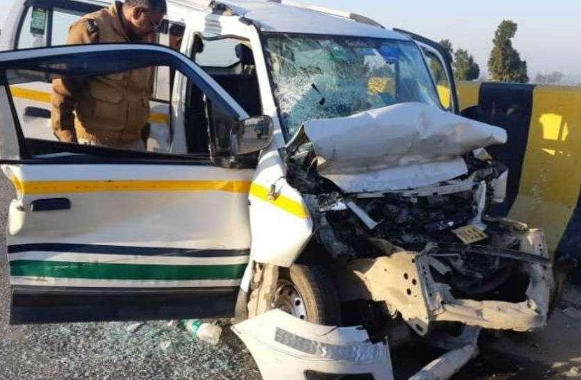 यमुना एक्सप्रेसवे पर फिर हादसा, वाहन में एक कि.मी. तक फंसी ही कार, चालक की मौत