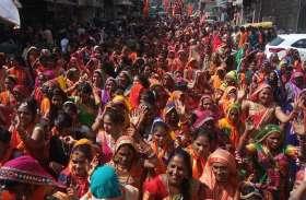 गौर बंजारा समाज ने बड़े गणपति से निकाली शोभायात्रा - देखें वीडियो