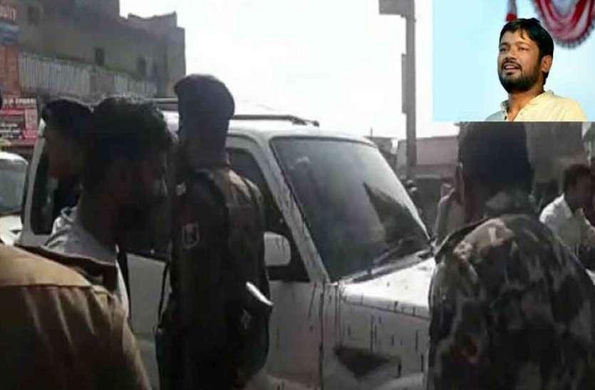 बिहार में कन्हैया के काफिले पर फिर पथराव, कन्हैया पूरी तरह से सुरक्षित
