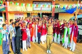 स्वर्णिम भारत के लिए जवाहर नवोदय विद्यालय के बच्चों ने दोहराई शपथ