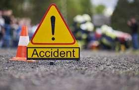 निजी बस की खड़े ट्रक से भिड़ंत,1 की मौत 7 घायल