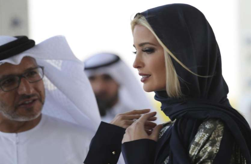 सिर को स्कार्फ से ढंके नजर आईं इवांका ट्रंप, सोशल मीडिया में वायरल हुई तस्वीर