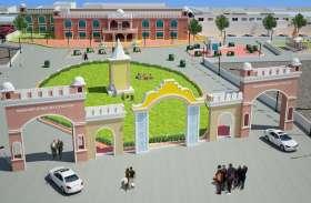 मॉडल स्टेशन का आकार लेने लगा बुरहानपुर का रेलवे स्टेशन, एलिवेशन और लिफ्ट का काम बाकी - मुख्य द्वार बनकर तैयार