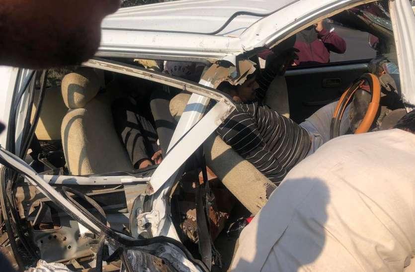 जबलपुर में भीषण हादसा: नींद के झोंके में कार बेकाबू, तीन ने दम तोड़ा