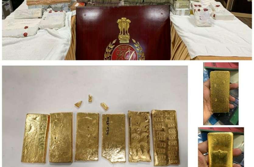 जयपुर में ईडी की बड़ी कार्रवाई, 15 करोड़ का सोना-चांदी और नकदी जब्त