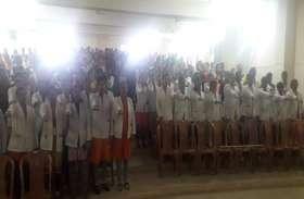 जगदलपुर शासकीय बीएससी नर्सिंग कॉलेज के छात्राओं ने ली शपथ, कहा अब नहीं करेंगे प्लास्टिक का उपयोग