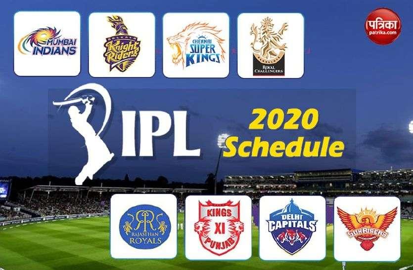 बीसीसीआई ने जारी किया आईपीएल का शेड्यूल, 57 दिन तक चलेगा टूर्नामेंट, देखें पूरा शेड्यूल