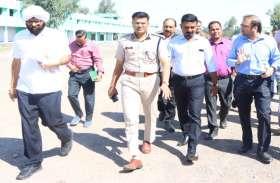 रायपुर : तुलसी बाराडेरा के 32 एकड़ में लगेगा राष्ट्रीय कृषि मेला : कलेक्टर और पुलिस अधीक्षक निरीक्षण करने पहुंचे