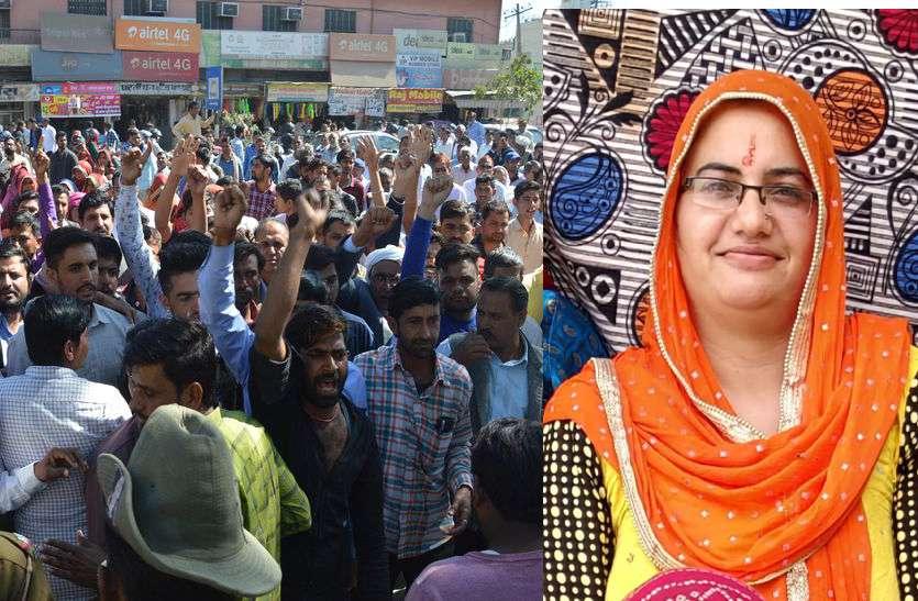पत्नी की हत्या के आरोप में कांस्टेबल पति गिरफ्तार, सास-ससुर की गिरफ्तारी की मांग पर अड़े परिजन