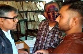 कैश काउंटर बंद नहीं करने से गुस्साएं कर्मचारियों ने कैशियर के मुंह पर पोती स्याही