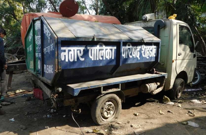 कचरा उठाव वाहन खराब, नहीं हो रहा कचरे का उठाव
