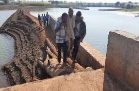 बारिश में बहा पुल, अब लकडिय़ों का रास्ता बना निकल रहे चार गांव के ग्रामीण