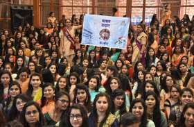 swarnim bharat : गल्र्स ने फेयरवेल पार्टी में उपयोग नहीं किया सिंगल यूज प्लास्टिक, लिया पॉलीथिन मुक्ति का संकल्प