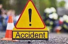 टायर फटने से कार पलटी, बाहर गिरने से युवती की मौत