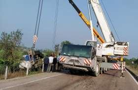 राष्ट्रीय राजमार्ग 27 पर हादसा,अमोनिया  गैस से भरा टैंकर पलटा