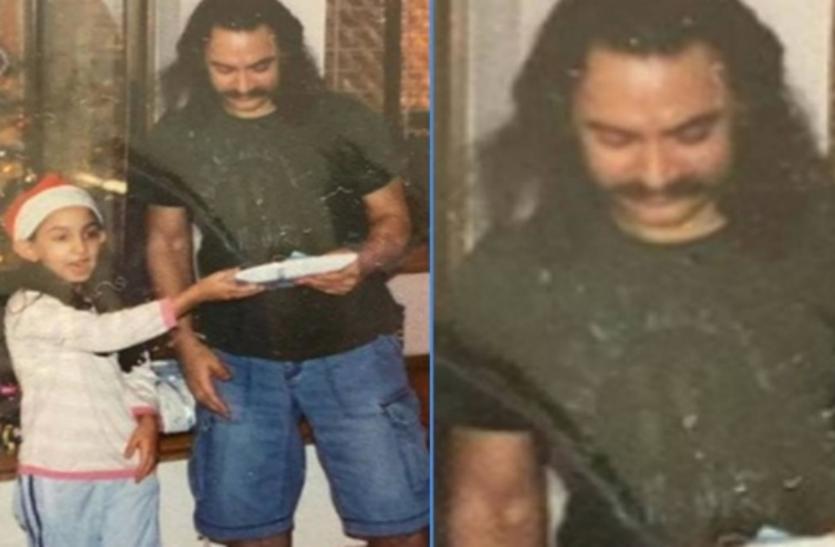 पिता संग 15 साल पुरानी तस्वीरों को इरा खान ने सोशल मीडिया पर किया शेयर, आमिर खान का लुक देख हैरान हुए फैंस