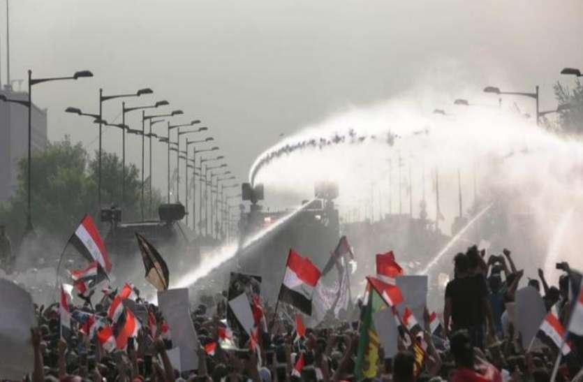 बगदाद: सरकार विरोधी प्रदर्शन में झड़प के दौरान 15 लोग घायल