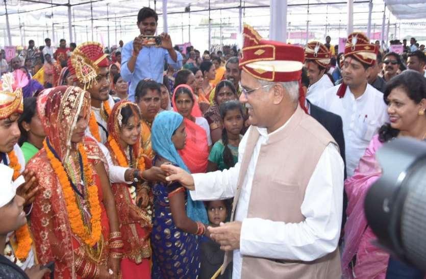 इंद्रदेव ने दिया साथ, धूमधाम से हुई 518 जोड़ों की शादी