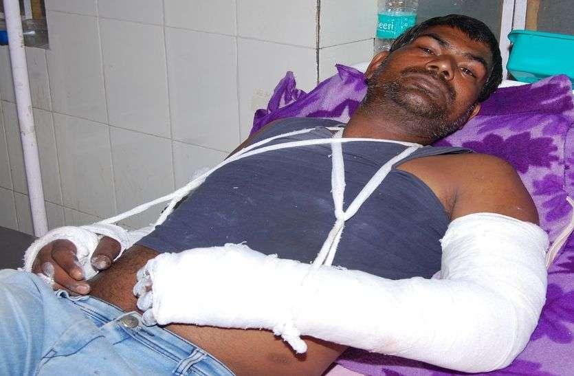 मरोत का बास के युवक से मारपीट कर हाथ तोड़ा