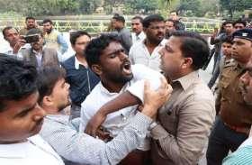 केन्द्रीय मंत्री की सुरक्षा में भारी चूक