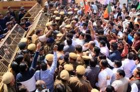 परिवहन विभाग के भ्रष्टाचार का विरोध भाजपाइयों ने राम नगर मेट्रो स्टेशन से मुख्यमंत्री निवास तक कूच करने का किया प्रयास पुलिस ने रोका देखें तस्वीरें