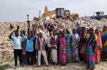 मुआवजा नहीं मिलने से आक्रोशित किसान, सरकार और बीजेपी विधायक के खिलाफ नारेबाजी