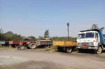 खनिज विभाग की ताबड़तोड़ कार्रवाई, 48 घंटे में अवैध परिवहन के पकड़े 22 वाहन
